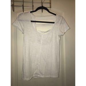Chaser White Short Sleeve Tee Open Back Size XS
